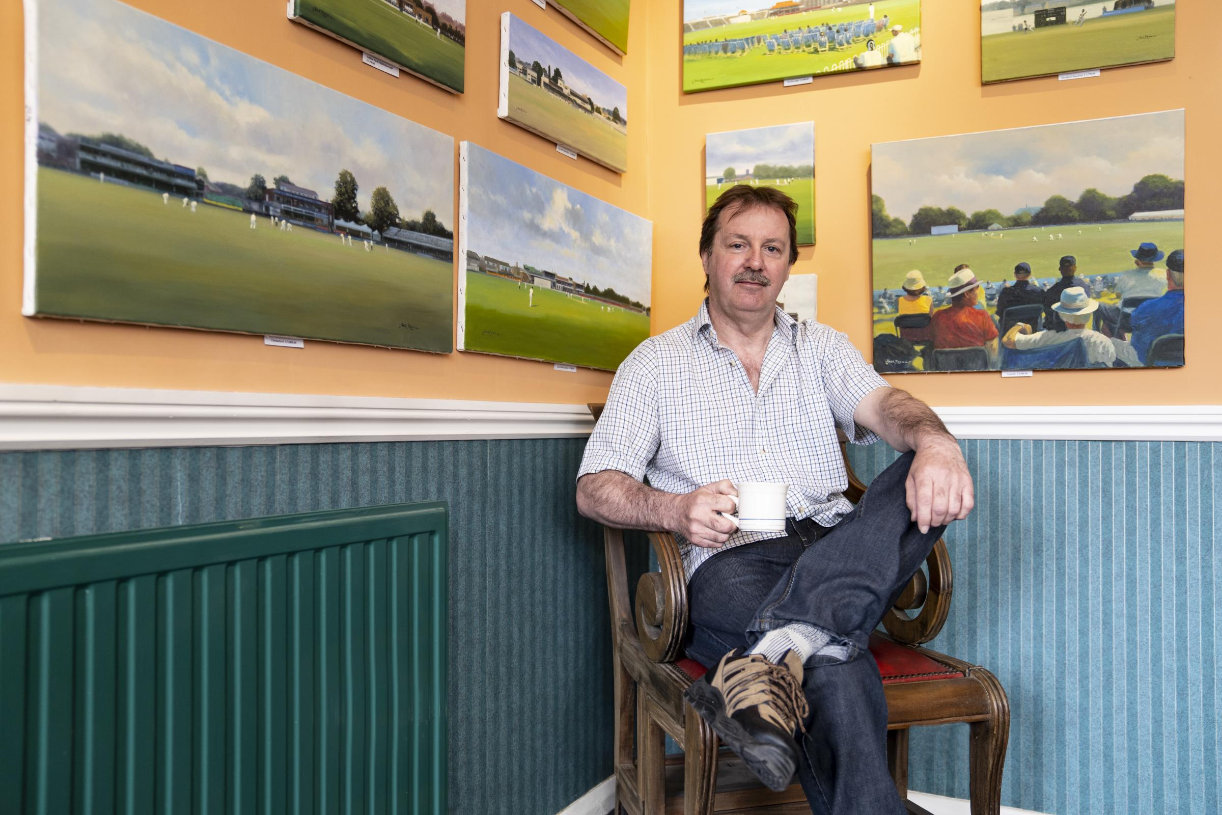 Former England International Cricket Wicket Keeper Jack Russell MBE, who is celebrating 30 years as a professional artist. Photo by Connor Elliott