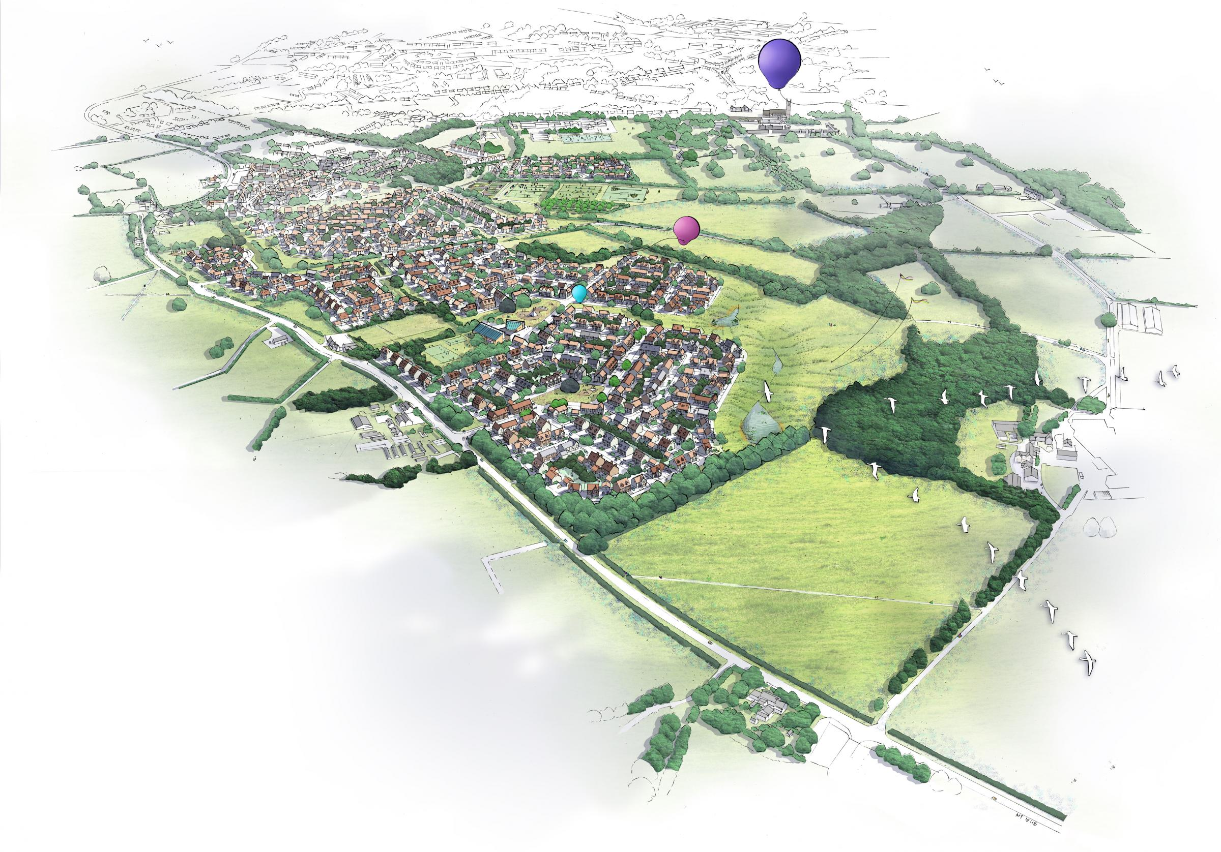 An artist's impression of the proposed Pickedmoor development