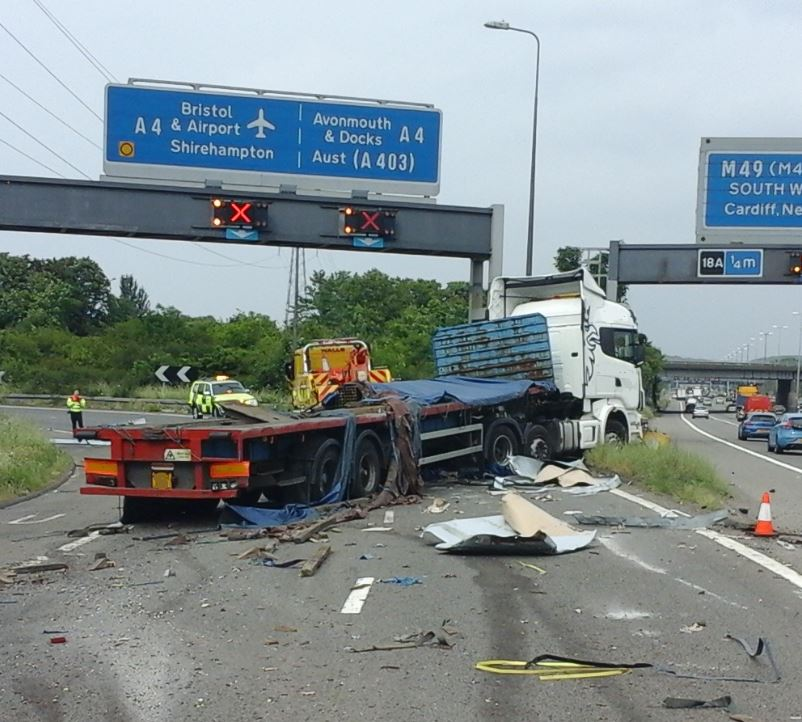 Traffic chaos heading north on the M5 after an accident. Image: Highways England