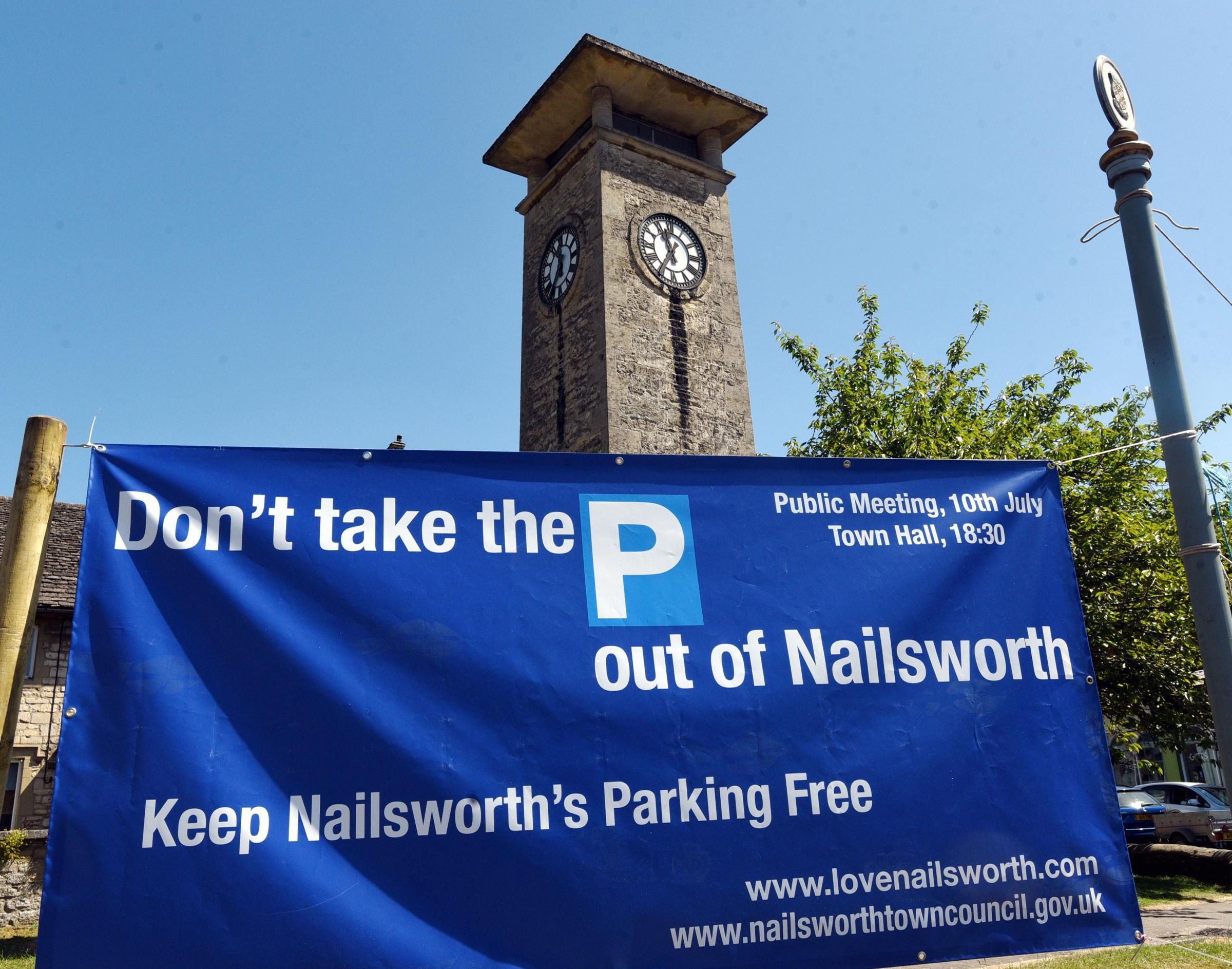 JULY  01   2018         PHOTOGRAPHER  Simon Pizzey Nailsworth Parking Charge  proposal Protest