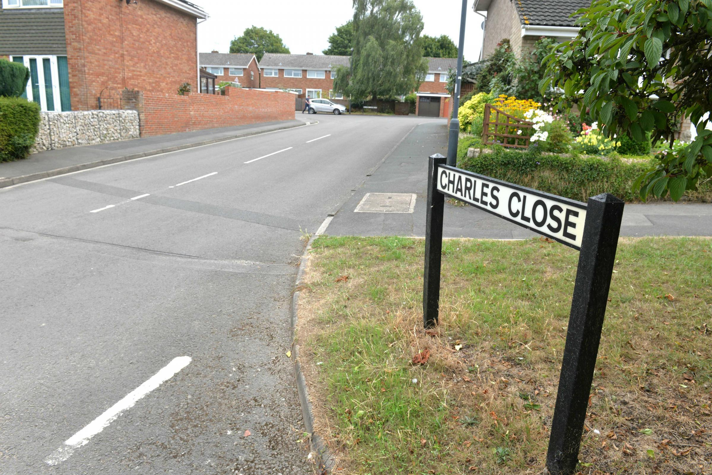 Charles Close in Thornbury is one of the streets hit by vandals. Photo: Steve Richards.