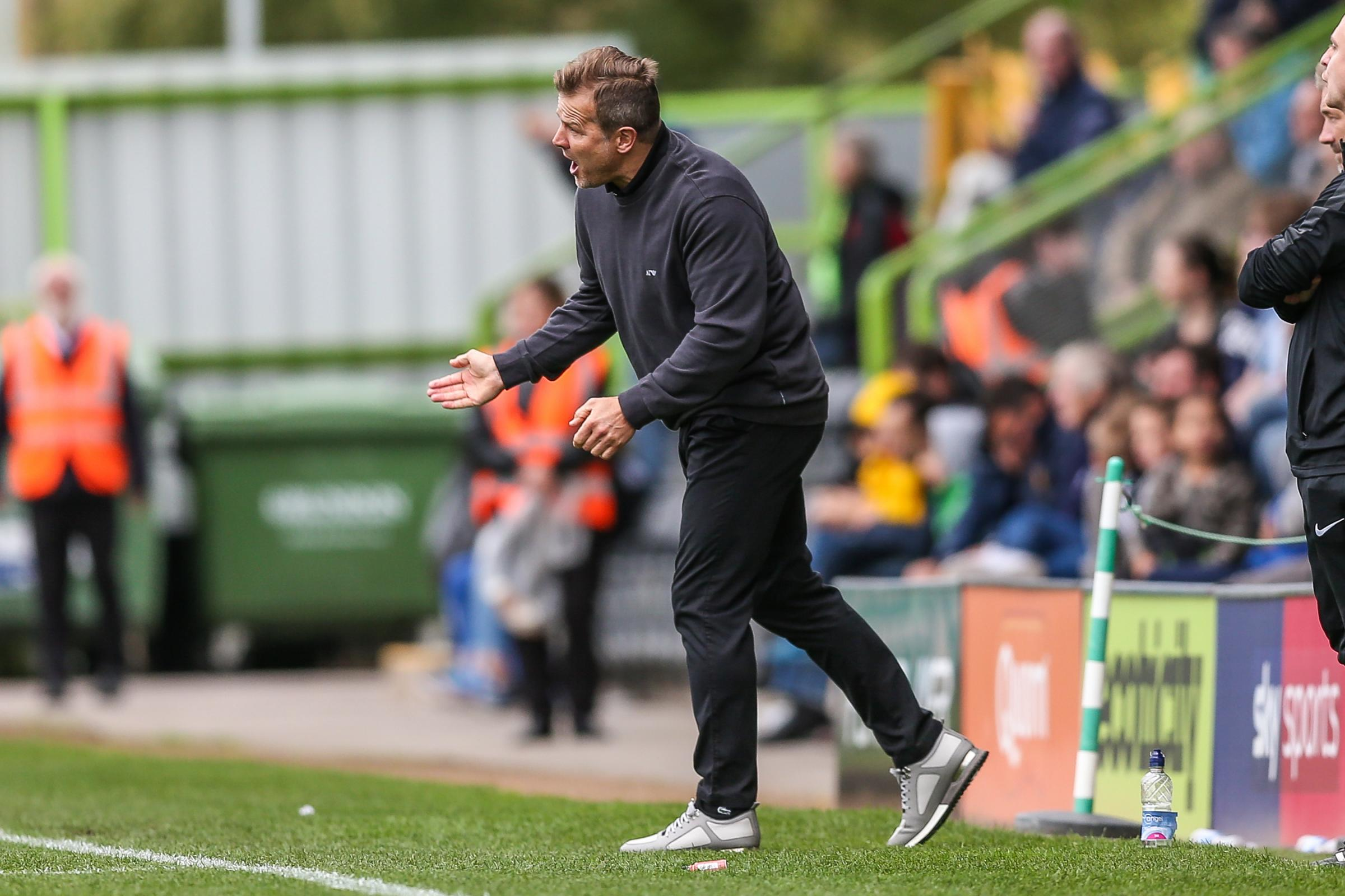 Forest Green Rovers manager, Mark Cooper during the EFL Sky Bet League 2 match between Forest Green Rovers and Port Vale at the New Lawn, Forest Green, United Kingdom on 8 September 2018.