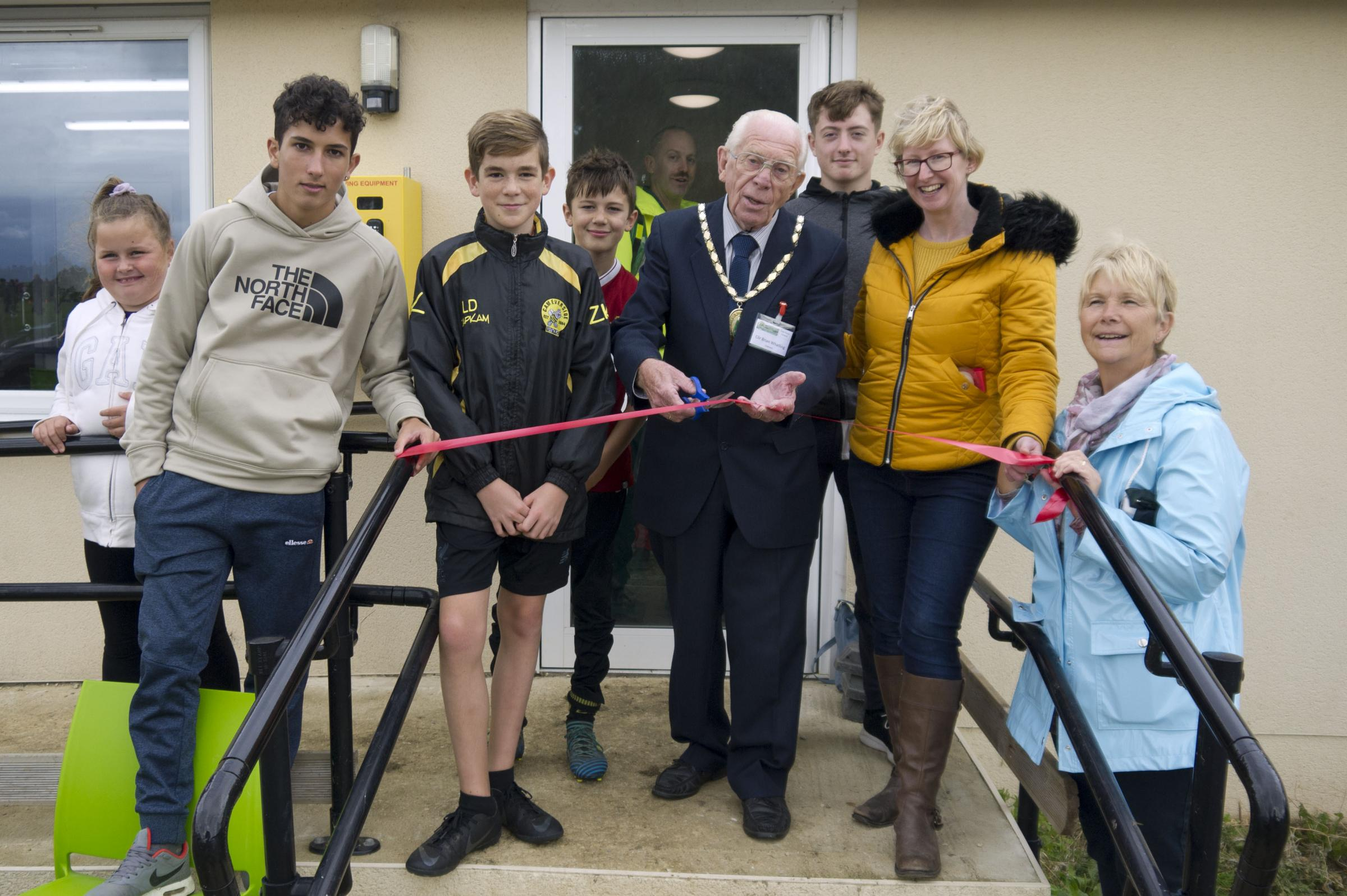 Brian Whatling, Cam Parish chair officially opened the Pavilion at Jubilee Fields on Saturday