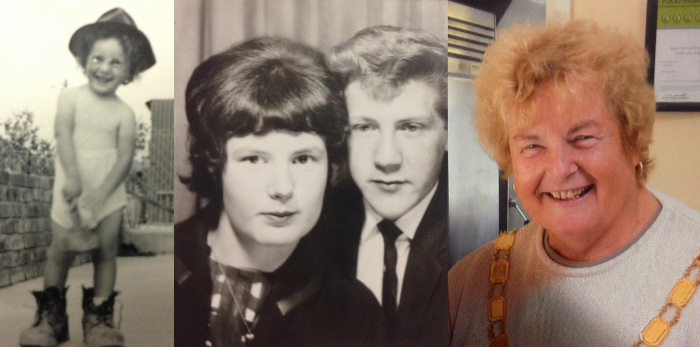 Gloria Stephen remembered: wearing her dad's boots; with husband Malcolm in the 1960s, and recently as chairwoman of Dodington Council