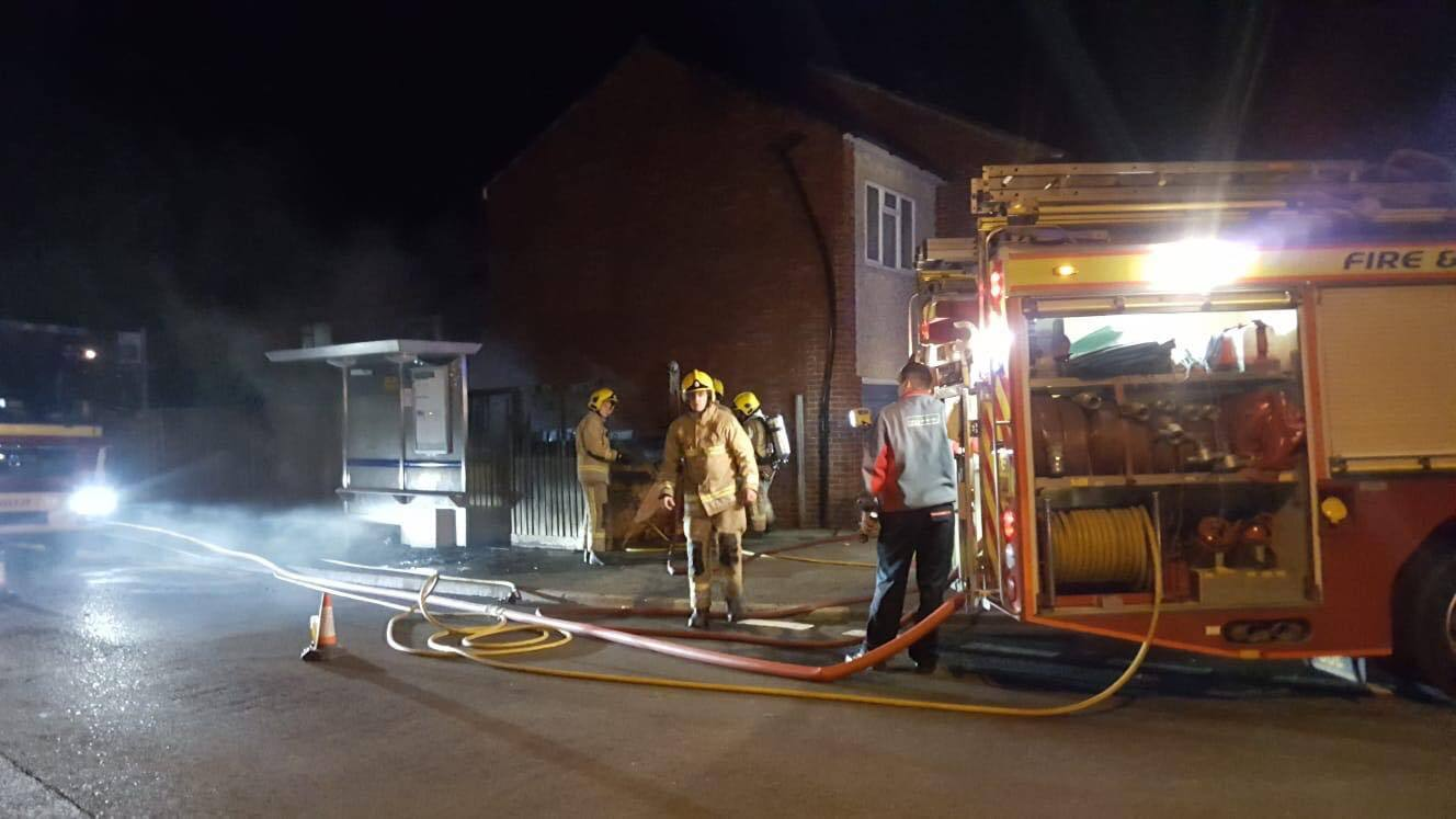 Firefighters were called to a skip fire in Lydbrook Close