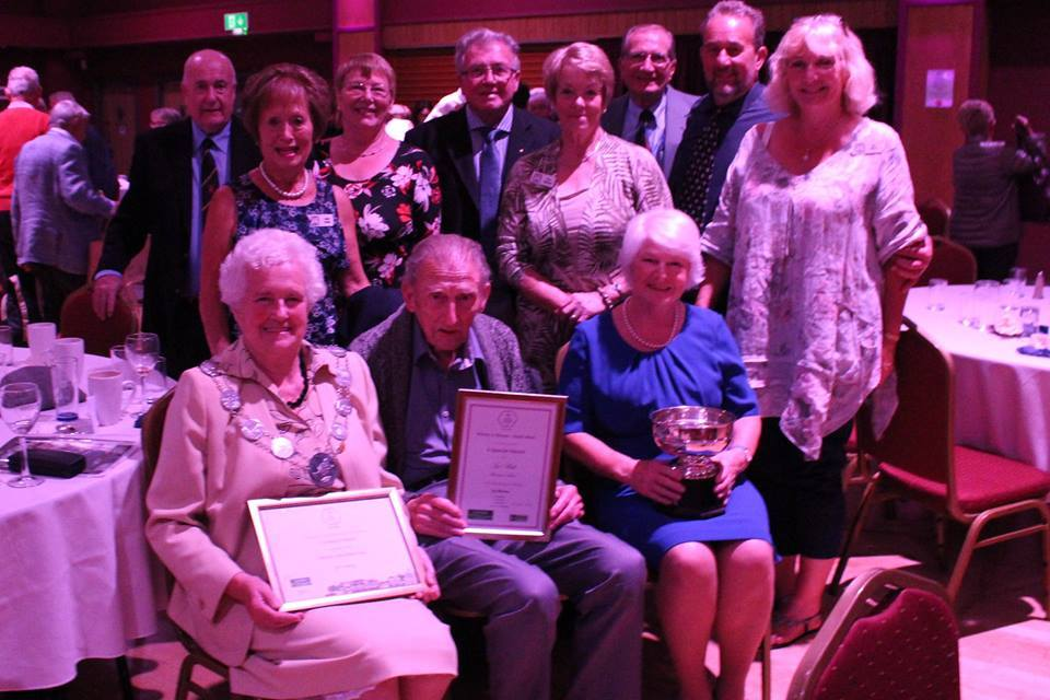 Cllr Shirley Holloway, Syd Philp, Sheila Forsythe and other members of the Thornbury in Bloom team at the South West in Bloom award ceremony