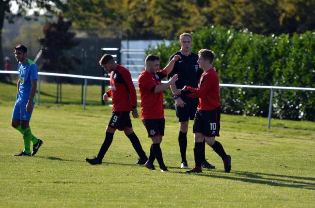 Thornbury Town FC continued their good form as they beat Almondsbury to climb to second