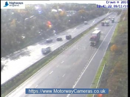 There has been an accident on the M5