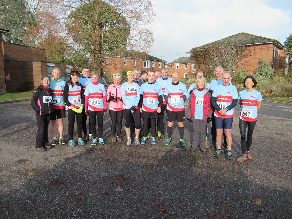 Thornbury runners at the Bicton Blister