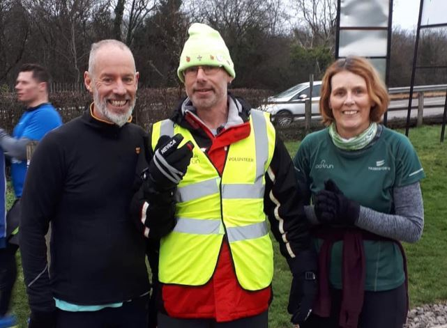 Parkrun founder Paul Sinton-Hewitt was in attendance at Chipping Sodbury