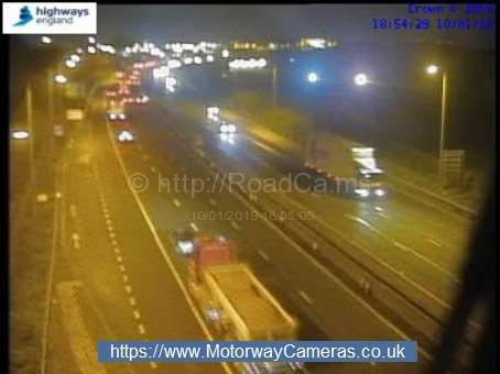 There are reports of an accident on the M5