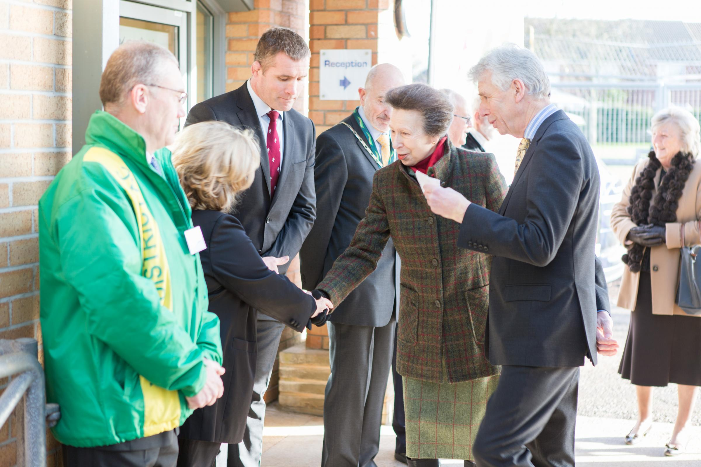 Princess Anne during her visit to Yate Outdoor Sports Complex this week/ Picture by Rich McD and Sue Swanborough