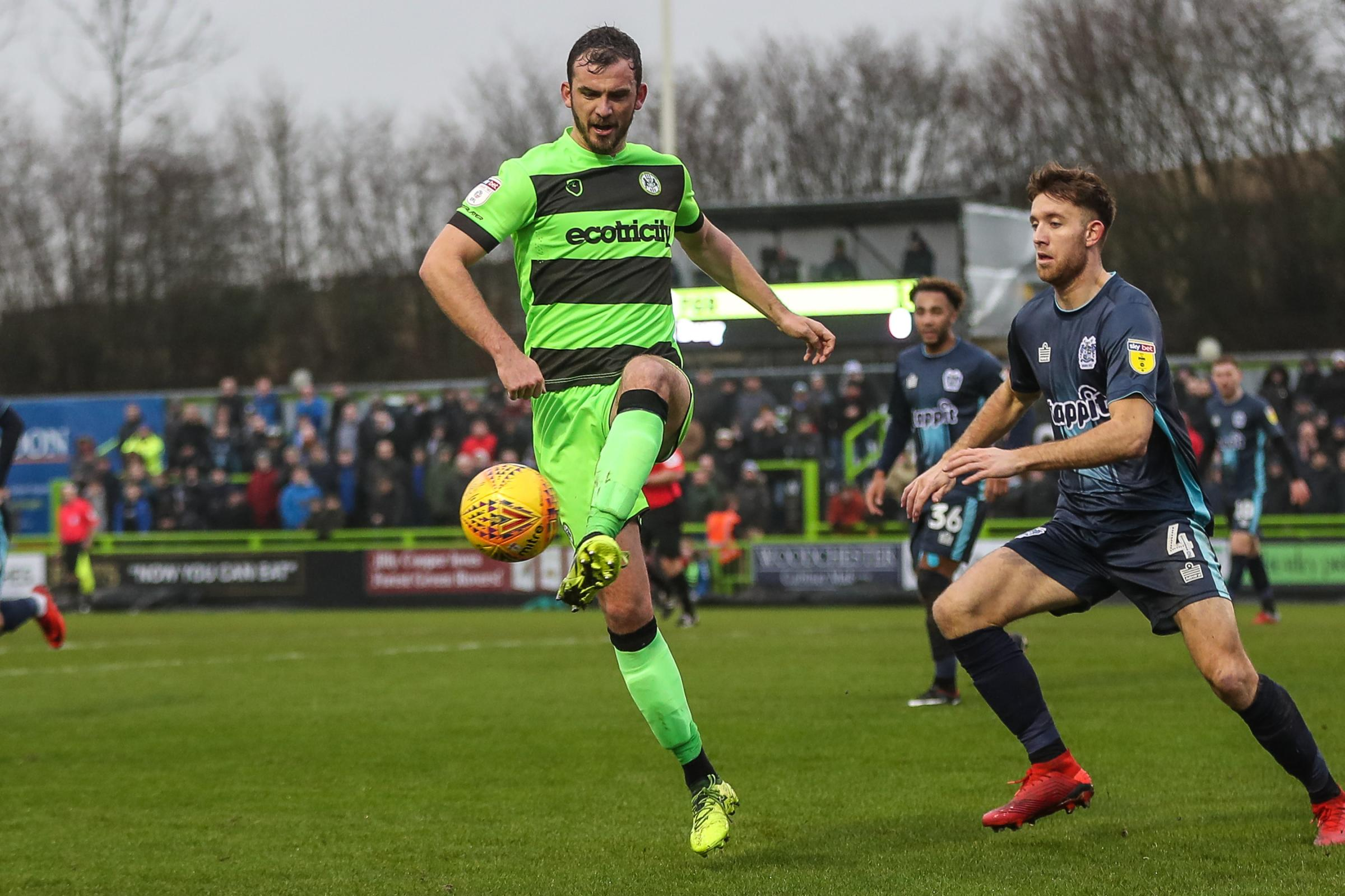 Forest Green Rovers Gavin Gunning(16) during the EFL Sky Bet League 2 match between Forest Green Rovers and Bury at the New Lawn, Forest Green, United Kingdom on 19 January 2019.