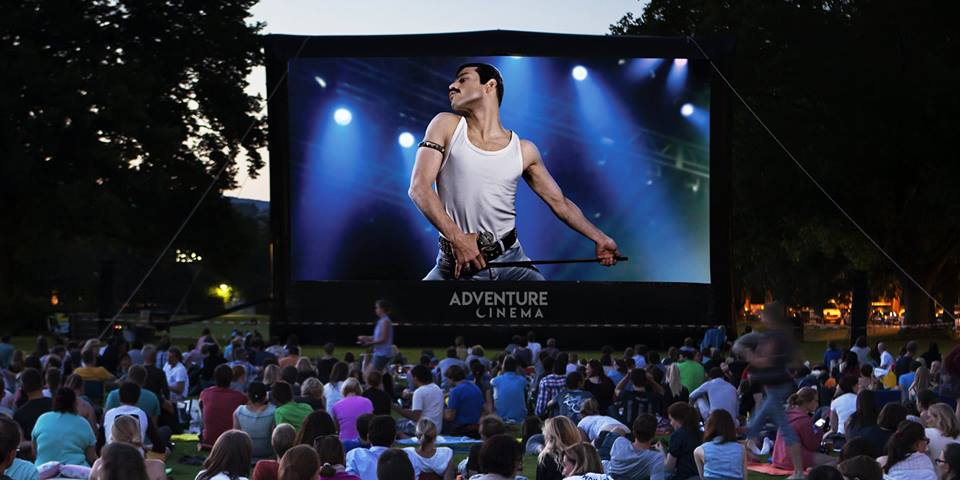 Watch an amazing outdoor screening of Bohemian Rhapsody