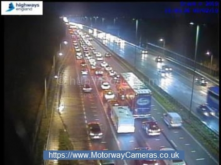 There has been an accident on the M4 near Almondsbury
