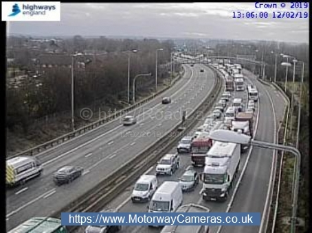 There has been a crash on the M5