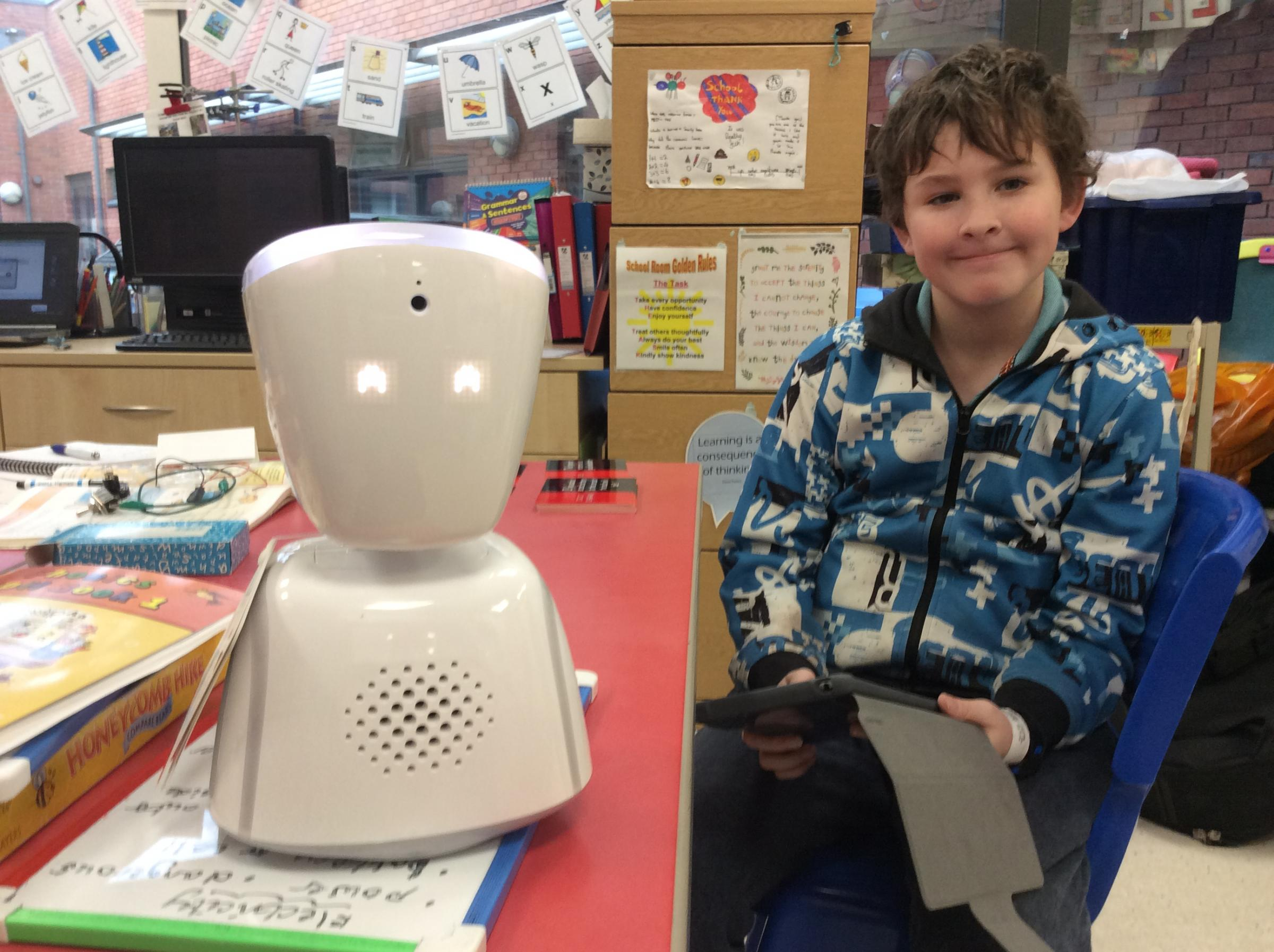 Robots help unwell children to continue their education