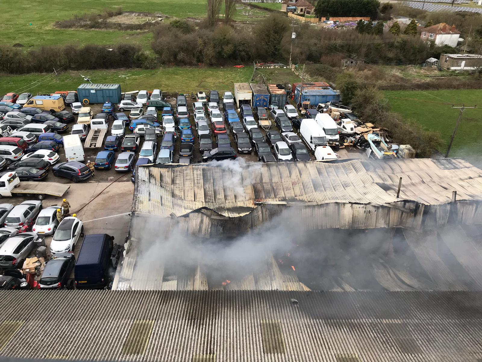 Crews called to workshop fire