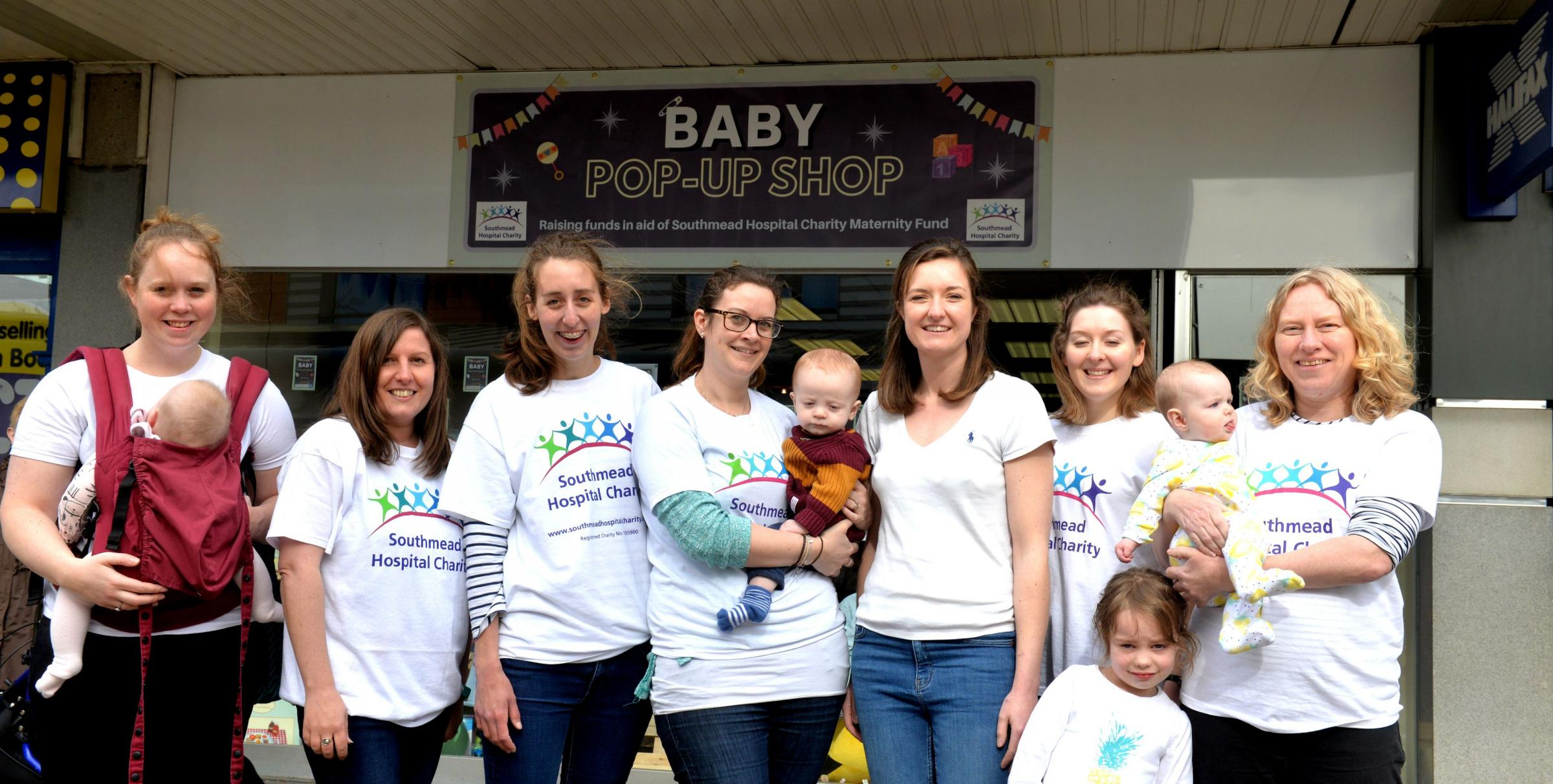 The volunteers at the Baby Pop up Charity shop in Yate Shopping Centre in aid of the Southmead Hospital Maternity Fund