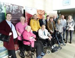 Cllr Brian Allinson and residents who contributed to the making of the exhibition
