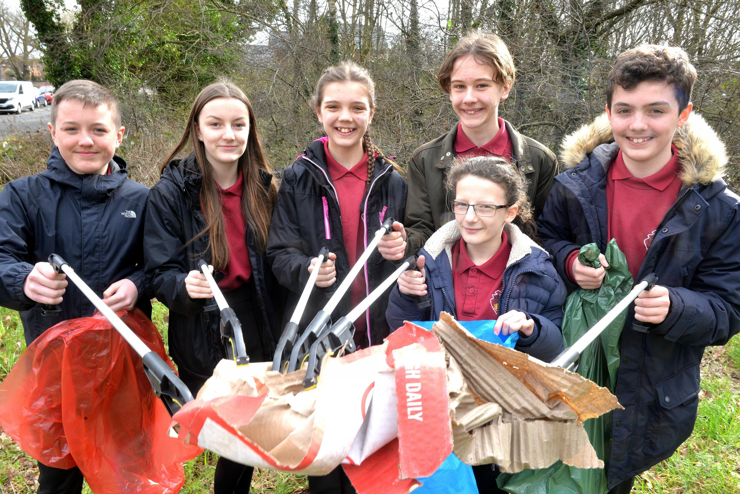 Brimsham Green School pupils have been litter picking as part of the work in the community