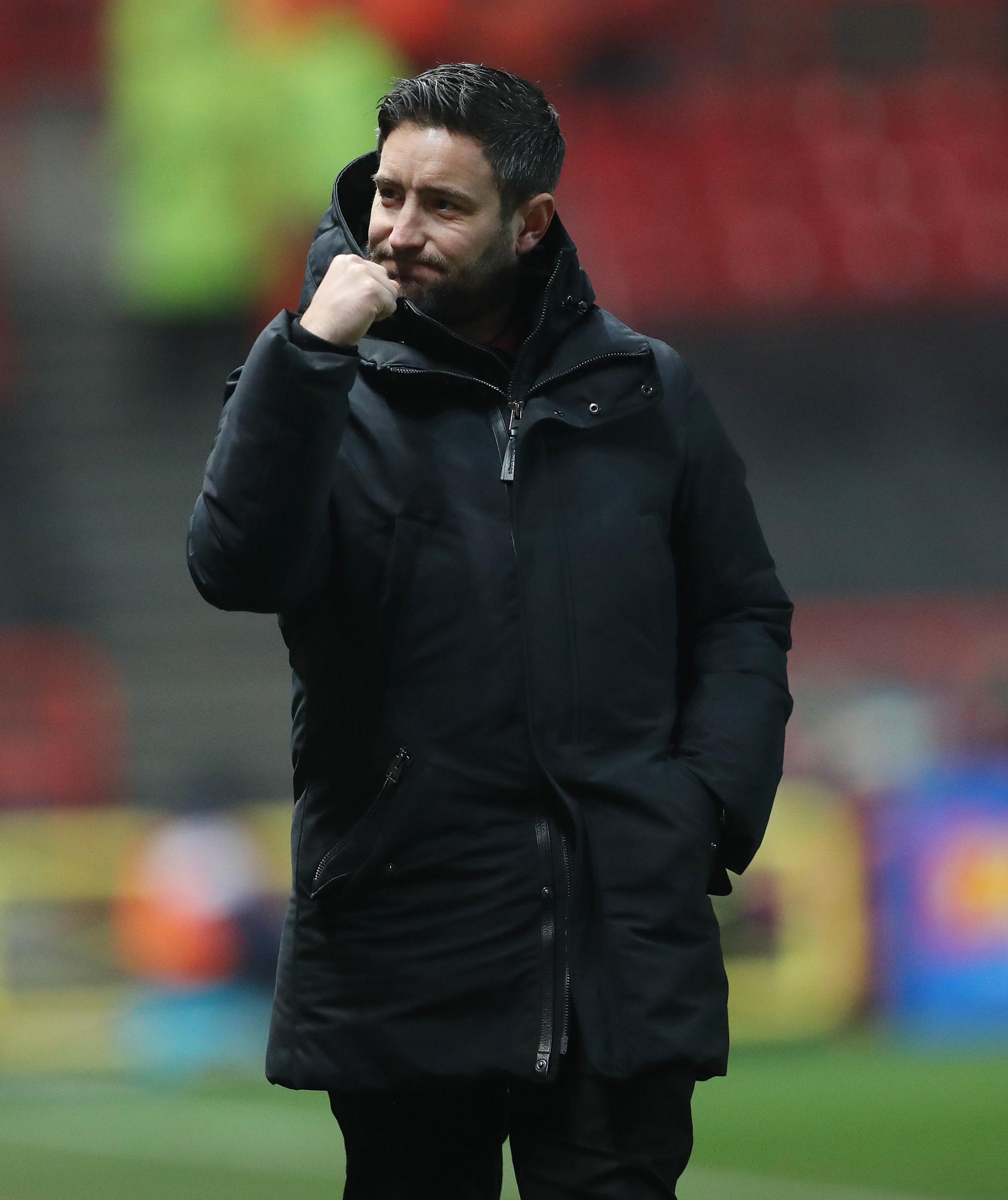 Bristol City manager Lee Johnson celebrates their victory in the Emirates FA Cup, third round match at Ashton Gate, Bristol. PRESS ASSOCIATION Photo. Picture date: Saturday January 5, 2019. See PA story SOCCER Bristol City. Photo credit should read: David