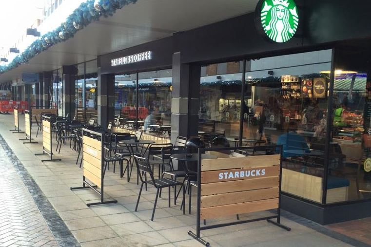 Starbucks in Yate before the closure on Sunday