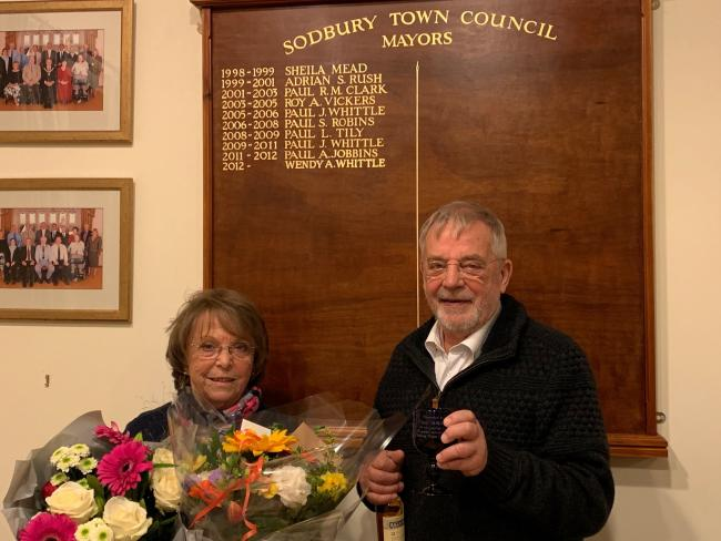 Wendy and Paul Whittle are stepping down after a combined time of over 30 years with Sodbury Town Council