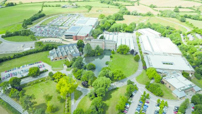 An aerial view of the Renishaw site in Wotton-under-Edge, Gloucestershire
