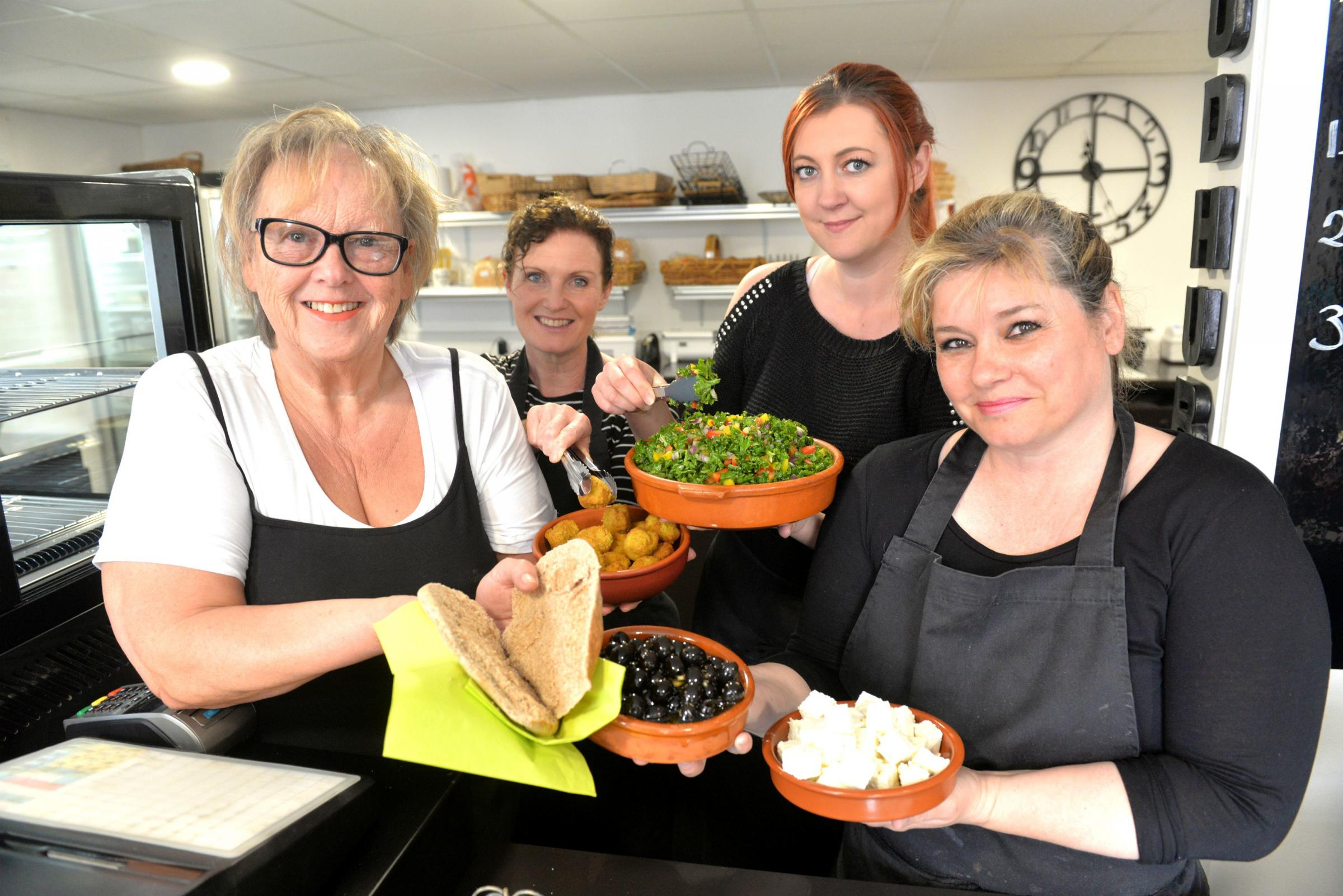Lisanne Rogers of the Food Hub with her staff Kelly Prowse, Lauren Workman and Kerry Kellengray. The Foodhub can be contacted on 01454 318555 from 9am-2pm Mon-Fri