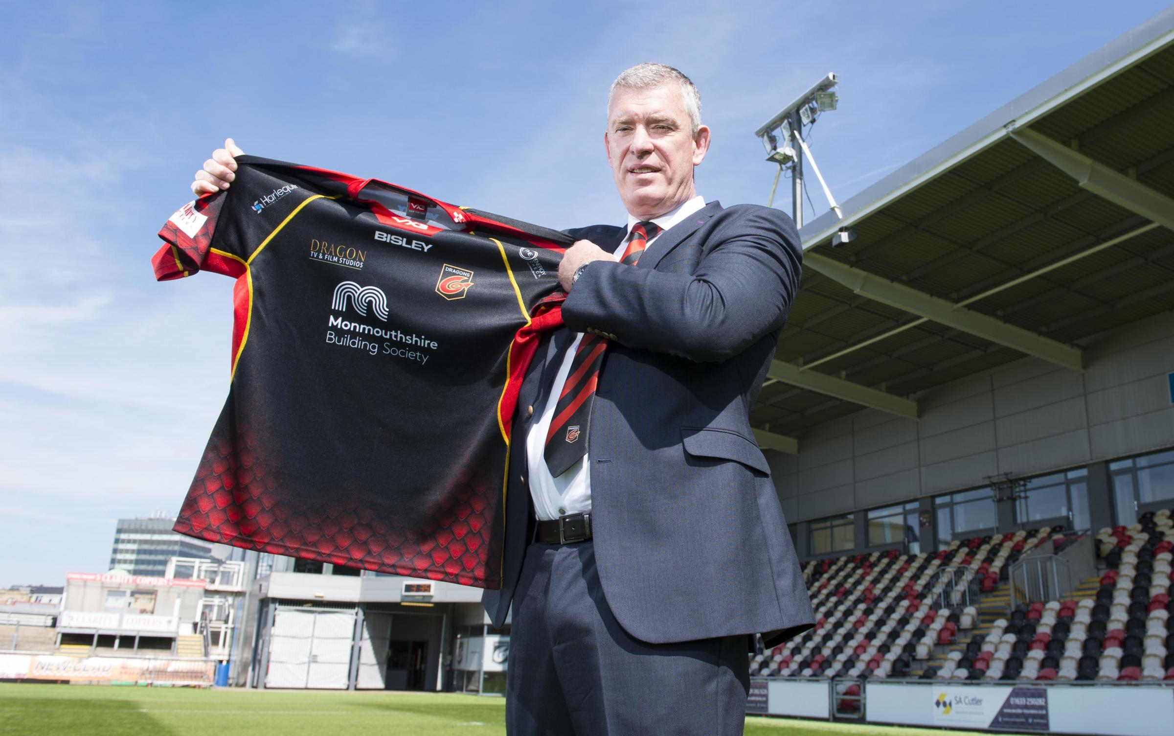 14.05.19 -  Dean Ryan pictured after being appointed Director, Dragons Rugby at Rodney Parade, Newport.