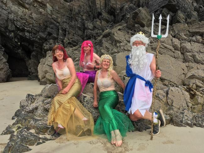 Cape Wrath Mermaids - second to left to right TRC Capt. Pete Mainstone, Judy Mills and Chris Foley