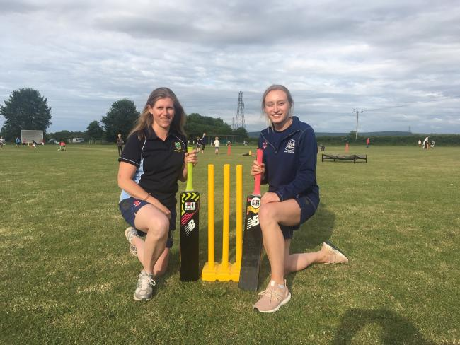 Five Valleys cricket Claire Lyes, left, and Daisy Hewitt who are the coaches at the new Five Valleys girls cricket club