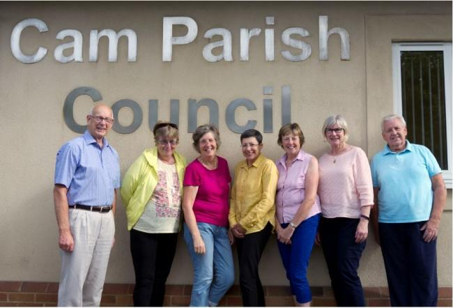 From left, NDP Steering group members Cllr Terry Grocutt, Cllr Julie Sherman, Marion Miller, Janice Evans, Moira Woodward, Cllr Christina Carter, Cllr Mike Grimshaw