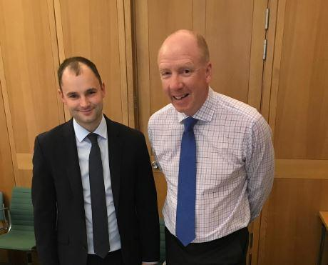 MP Luke Hall with Andrew Page-Dove of Highways England at their recent meeting
